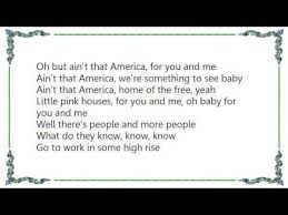 Small Picture John Mellencamp Pink Houses Lyrics YouTube