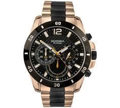 buy sekonda men s black and rose gold plated chronograph watch at sekonda men s black and rose gold plated chronograph watch717 6449
