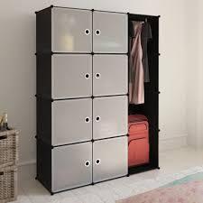 1 of 8free portable closet storage organizer clothes wardrobe rack shelves 8 cube modular