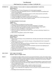 Group Product Manager Resume Samples Velvet Jobs