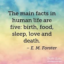 Love And Death Quotes Impressive The Main Facts In Human Life Are Five Birth Food Sleep Love And