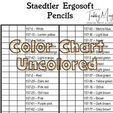 Staedtler Colored Pencils 48 Color Chart Staedtler Ergosoft Color Chart 36 Colors