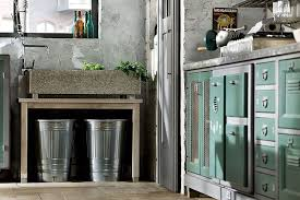 kitchen vintage kitchen cabinet with black metal chrome