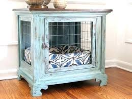 diy dog crate table crate furniture photo 2 of dog crate furniture dog kennel nightstands 1