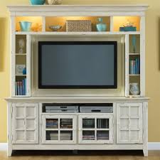 room decoration using white wood front glass tv buffet including white wood wall tv cabinet with doors and light yellow living room wall paint image