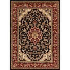 barclay medallion kashan black 8 ft x 10 ft traditional area rug