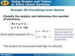 example 3b classifying linear system