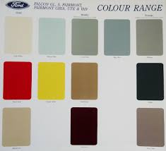Ford Ea Falcon Series Colour Chart Printed May 1989 Ford