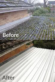b s roofing have many years experience with this material the expensive option is to re roof with similar or completely new roof coverings