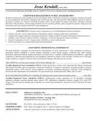 Nurse Anesthetist Resume Anesthetist Nurse Sample Resume shalomhouseus 27