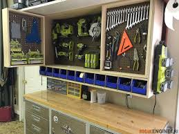 tool storage wall cabinet pegboard wall storage