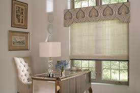 lafayette interior fashions featuring manh truc woven wood shades and custom cornice