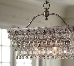 clarissa rectangular glass drop chandelier