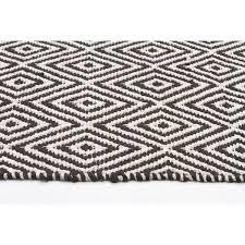 black and white diamond rug. caen black diamond eco-friendly cotton \u0026 jute rug and white b