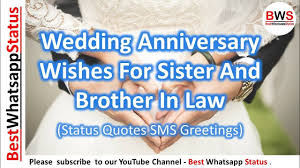 Wedding Anniversary Wishes For Sister And Brother In Law Status Quotes Sms Greetings Best Whatsapp