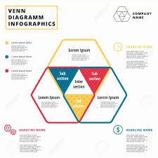 Venn Diagram In Logic Venn Diagram Vector Circles Infographics Template Design Overlapping