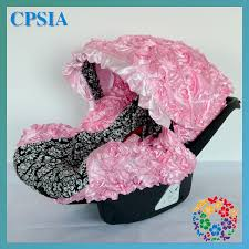 Wholesale Hot Pink Damask infant car seat canopy cover fit most