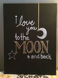 painting done on canvas i love you to the moon and back
