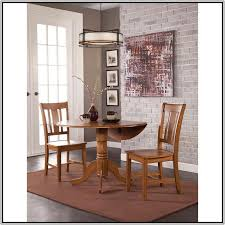 international concepts round drop leaf pedestal dining table