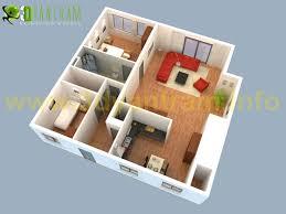 3d floor plan modern house