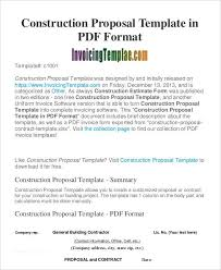 Business Proposal Template For Construction Sample #1883 ...