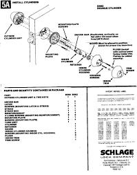 Schlage Door Handle Parts Schlage 16204605 2 38 Door Handle Parts