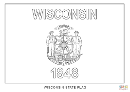 Wisconsin State Flag Coloring Page Coloring Home