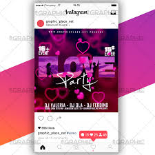 Love Party Social Media Video Template Graphicplace