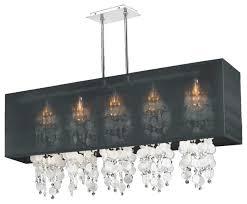 44 w rectangular shaded capiz shell and crystal chandelier omni 627k
