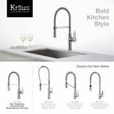 Kraus Nola Flex Single Handle Commercial Style Kitchen Faucet With