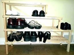 medium size of diy wooden closet shoe rack storage coat shelf for organizer floor bathrooms cool