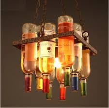 industrial lighting fixtures for home. retro loft style bottle nordic led pendant lights fixtures hanging lamp vintage industrial lighting for bar home e
