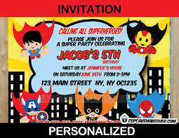 superheroes party invites superhero party invitations archives cupcakemakeover