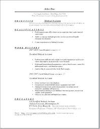 Medical Assistant Resume Objective Examples Simple Resume Objective Medical Assistant Resume Objective Secretary