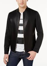 armani exchange men s mixed media jacket