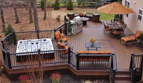 Backyard Deck Designs Plans Unique Inspiration Ideas