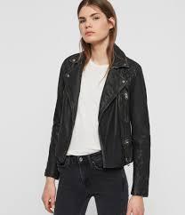 womens cargo leather biker jacket black grey image 1