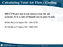 Cfm Per Ton Chart Airflow Properties Measurement Ppt Video Online Download