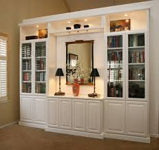 entertainment centers built in niches transitional family room