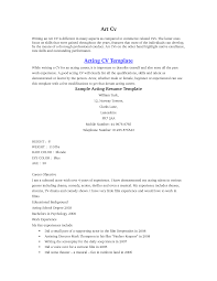 Acting Resume Format Resume Samples