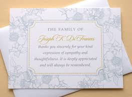 Personalized Sympathy Thank You Cards Bereavement Thank You Notes Johnta Designs