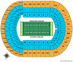 Virtual Neyland Seating Chart Map Of Tennessee Football Seating Map Free Download
