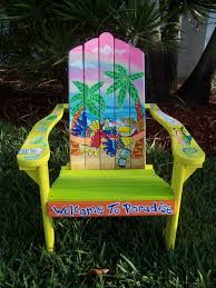tropical painted furniture. tropical adirondack chair handcrafted hand by dreamcreationsart 37500 decorated chairspainted painted furniture
