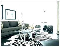faux bra rug cowhide animal tracks black and white home design for living room in