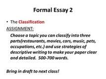 how to write a classification essay intro james an college how to write a classification essay writing expert blog
