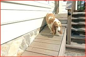 outdoor pet ramp marvellous dog for stairs deck door side hale installed ra
