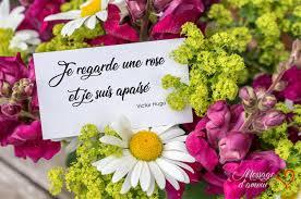 Mot Damour Pour Carte De Bouquet De Fleurs Message Damour