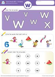 Welcome to the section of the site devoted to alphabet worksheets. Letter Recognition Phonics Worksheet W Lowercase Super Simple