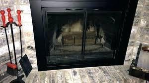 installing glass fireplace doors fireplace
