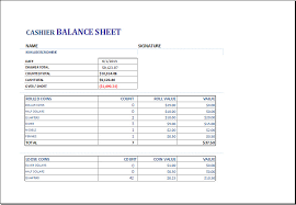 Balance Cash Drawer Cash Drawer Balance Sheet Template Templates Resume Examples